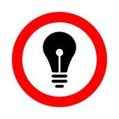 Vektorové ikonu lampy a znamení, ilustrace eps10 — Stock vektor