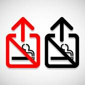 Vector no smoking sign on gray background, Illustration EPS10 — Stock Vector