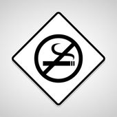 Vector no smoking sign, Illustration EPS10 — Stock Vector