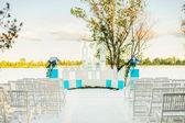 Decor för sommar bröllopsceremoni — Stockfoto