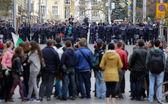 Anti-government protesters — Stock Photo