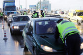 Traffic police inspections — Stock Photo