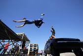 Parkour jumps — Stock Photo