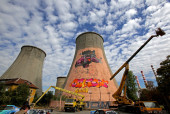 Graffiti on a tower — Stock Photo