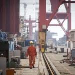 Container cargo harbor — Stock Photo #56960359