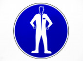 Clothing protective workwear sign — Stock Photo