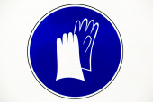 Gloves protection workwear sign — 图库照片
