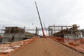 Waste plant construction site — Стоковое фото