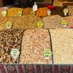 Turkish nuts sweets delight bazaar — Stock Photo #60795423