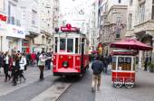 Istanbul red tram — Stock Photo