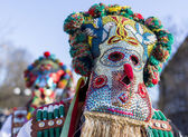 Surva mask costume festival — 图库照片