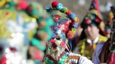 Surva mask costume festival — Stock Video