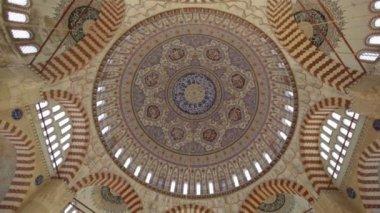 Selimiye Mosque dome interior — Stock Video