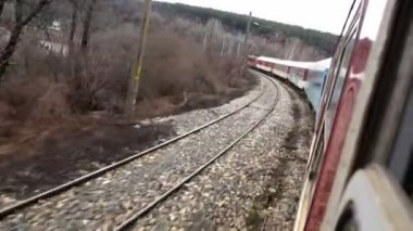 Train Point of View — Stock Video
