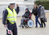 Physical Impairment (Disabled) people protest — Stock Photo