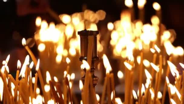 Eglise bougies — Vidéo