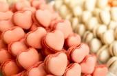 粉色心形糖果食品 — 图库照片