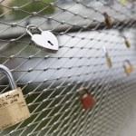 Love padlocks locks — Stock Photo #73733749
