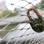 Rusty love padlock lock — Stock Photo #73733755