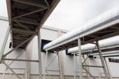 Waste plant outside process storage methane oil organic — Stock Photo