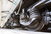 Passagerare utbildar överföring däck hjul — Stockfoto