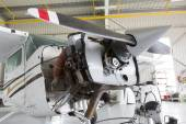 Repairing small propeller airplane — Stock Photo