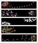 Elegant flower banners — Stock Vector