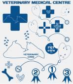 Veterinary medical centre — Vettoriale Stock