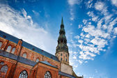 Saint Peters Church at Riga Old Town — Foto Stock
