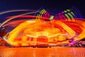 Carousels at night — Foto Stock