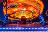 Carousels at night — Stock Photo