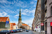 Saint Peters Church at Riga Old Town — Photo