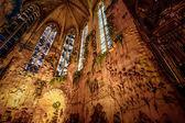Interior of Cathedral of Santa Maria of Palma (La Seu) in Palma — Stockfoto
