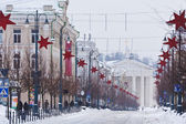 Street of Vilnius, Christmas — Stock Photo