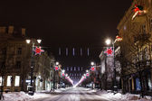 Vilnius at night, Christmas — Stock Photo