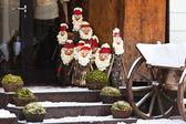 Christmas dolls on a street of Vilnius — Stock Photo