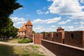 Teutonic castle in Malbork — Stock Photo