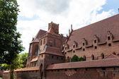 Teutonic castle in Malbork — Stock Photo