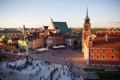 Panorama of Royal Castle in Warsaw — Stock Photo