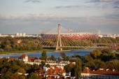Warsaw National Stadium at autumn time — Stock Photo