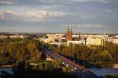 View of Warsaw at autumn time — Foto Stock