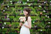 Portrait of happy bride — Stock Photo