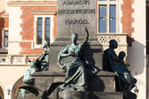 Detail of the monument to Adam Mickiewicz — Stock Photo