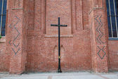 Cross near church — Foto Stock