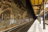 Graffitti in Savigny Platz Station in Berlin — Stock Photo