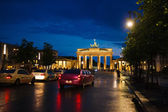 Limousine in street of Berlin — Stock Photo