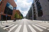 Crosswalk on empty street of Berlin — Stock Photo