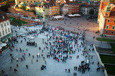 The Main Square in Warsaw — Stock Photo