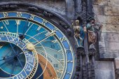 Fragment of Clock in Prague — Stock Photo
