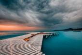 Approaching storm on the sea — Stock Photo